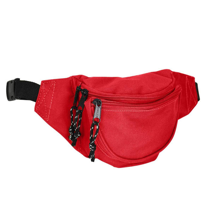 "DALIX Small Fanny Pack Waist Pouch Travel Belt (24""-31"") Fanny Packs DALIX Red"