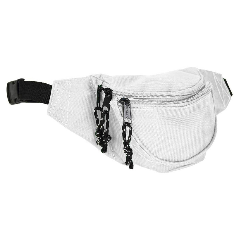 "DALIX Small Fanny Pack Waist Pouch Travel Belt (24""-31"") Fanny Packs DALIX White"