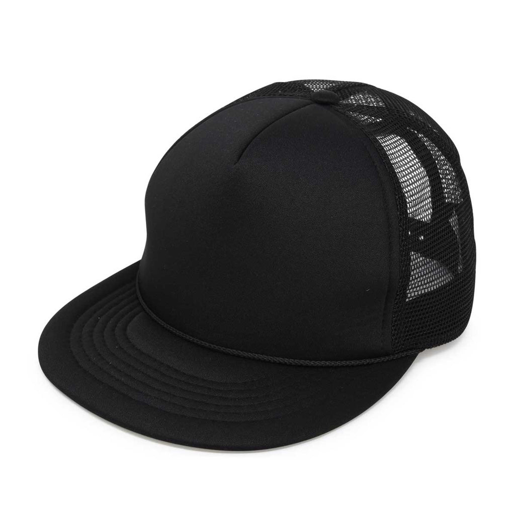 DALIX Trucker Cap Flat Billed Adjustable Snapback Plain Hat