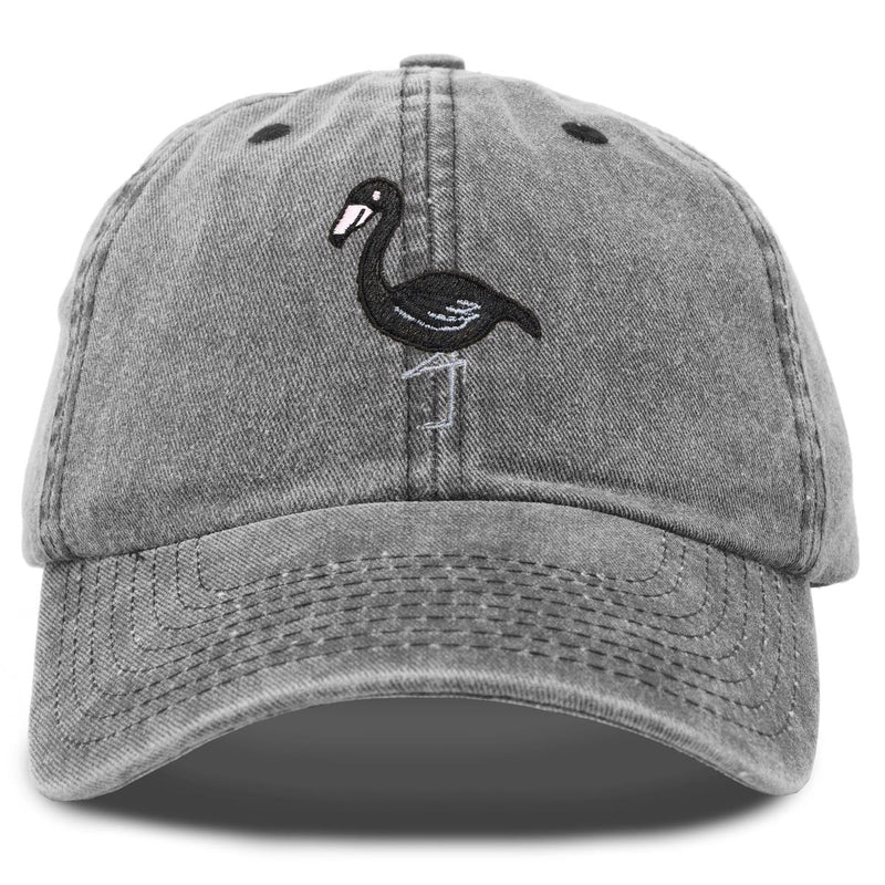 DALIX Black Flamingo Womens Dad Hat Baseball Cap Embroidered Vintage