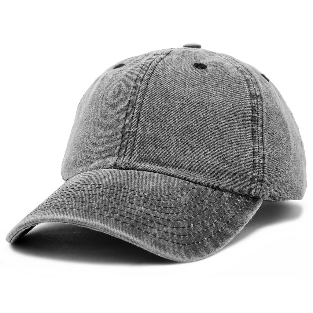 DALIX Vintage Washed Cotton Cap Pigment Dyed Adjustable Hat