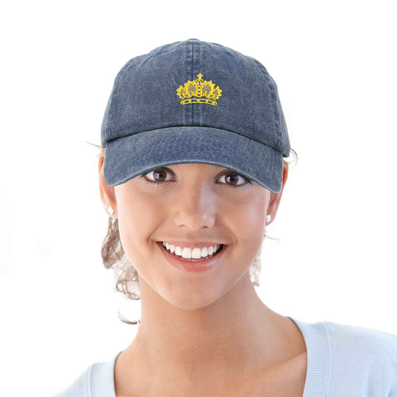 DALIX Royalty Crown Hat Womens Embroidered Baseball Cap