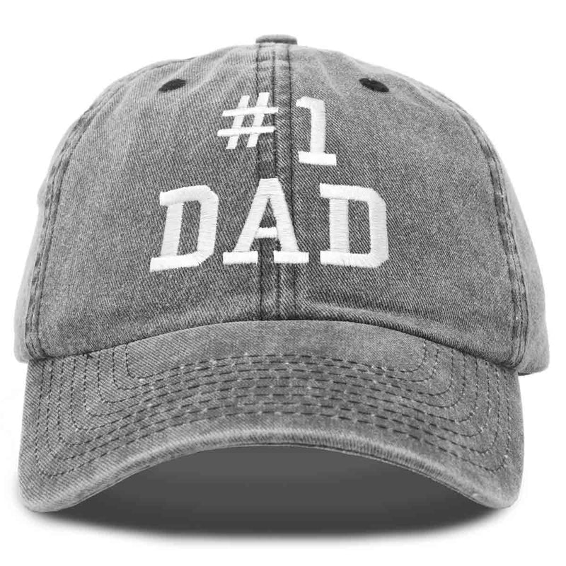 DALIX #1 Dad Hat Number One Fathers Day Gift Vintage Cotton Baseball Cap