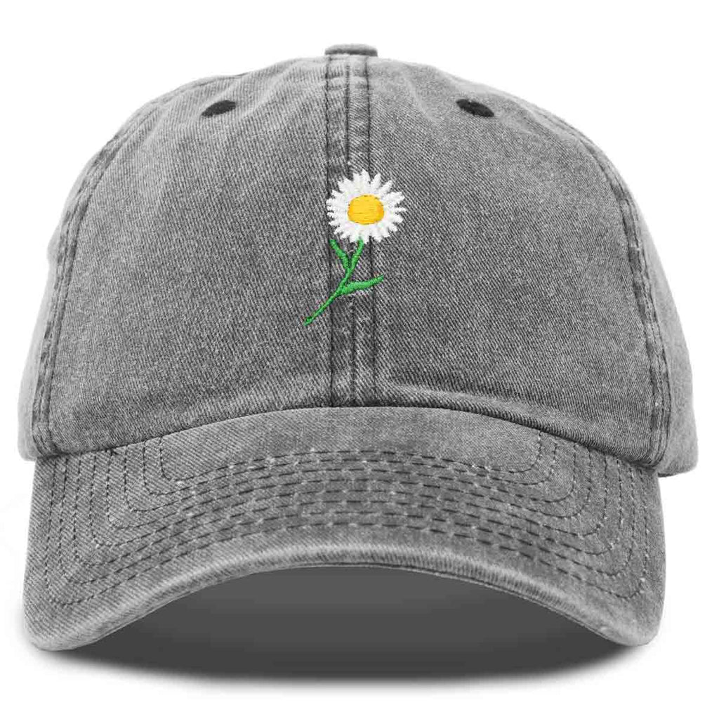 DALIX Daisy Flower Hat Womens Floral Baseball Cap Washed
