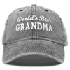 DALIX Worlds Best Grandma Hat Gift Washed Cotton Cap Gift