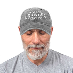 DALIX Worlds Greatest Grandpa Hat Vintage Cap Gift Washed Cotton