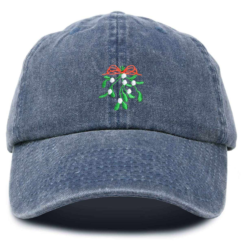 DALIX Christmas Holidays Mistletoe Hat Womens Embroidered Baseball Cap