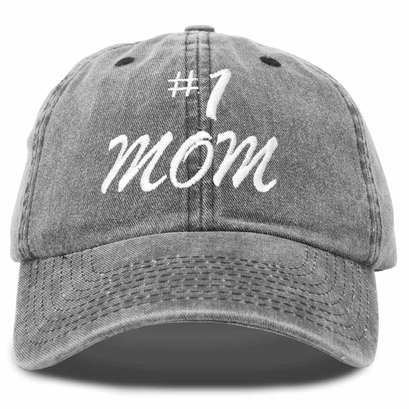 DALIX #1 Mom Hat Number One Mothers Day Gift Vintage Cotton Baseball Cap