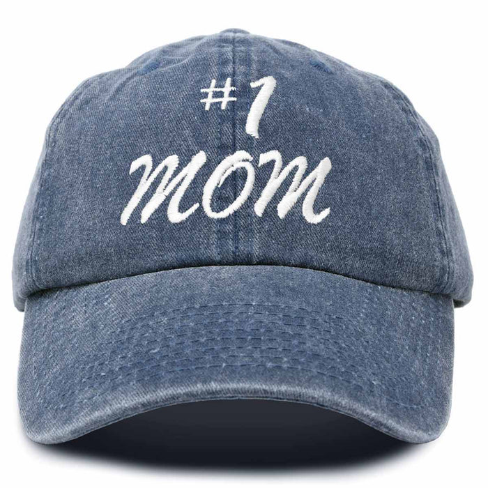 DALIX #1 Mom Hat Number One Mothers Day Gift Embroidered Baseball Cap