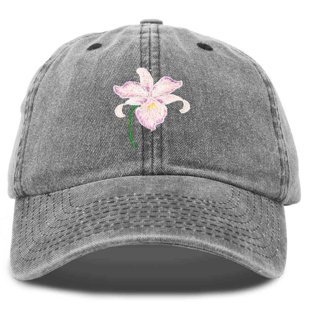 DALIX Orchid Hat Womens Floral Baseball Cap Washed