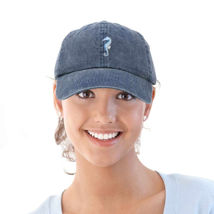 DALIX Marine Seahorse Hat Womens Embroidered Baseball Cap