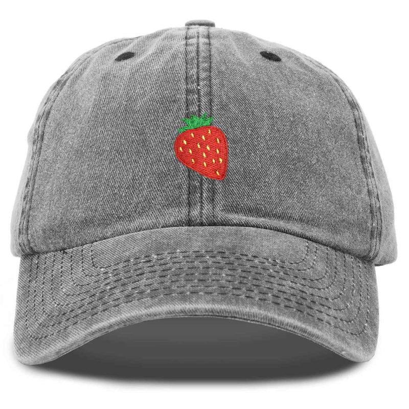 DALIX Cute Strawberry Hat Womens Embroidered Baseball Cap