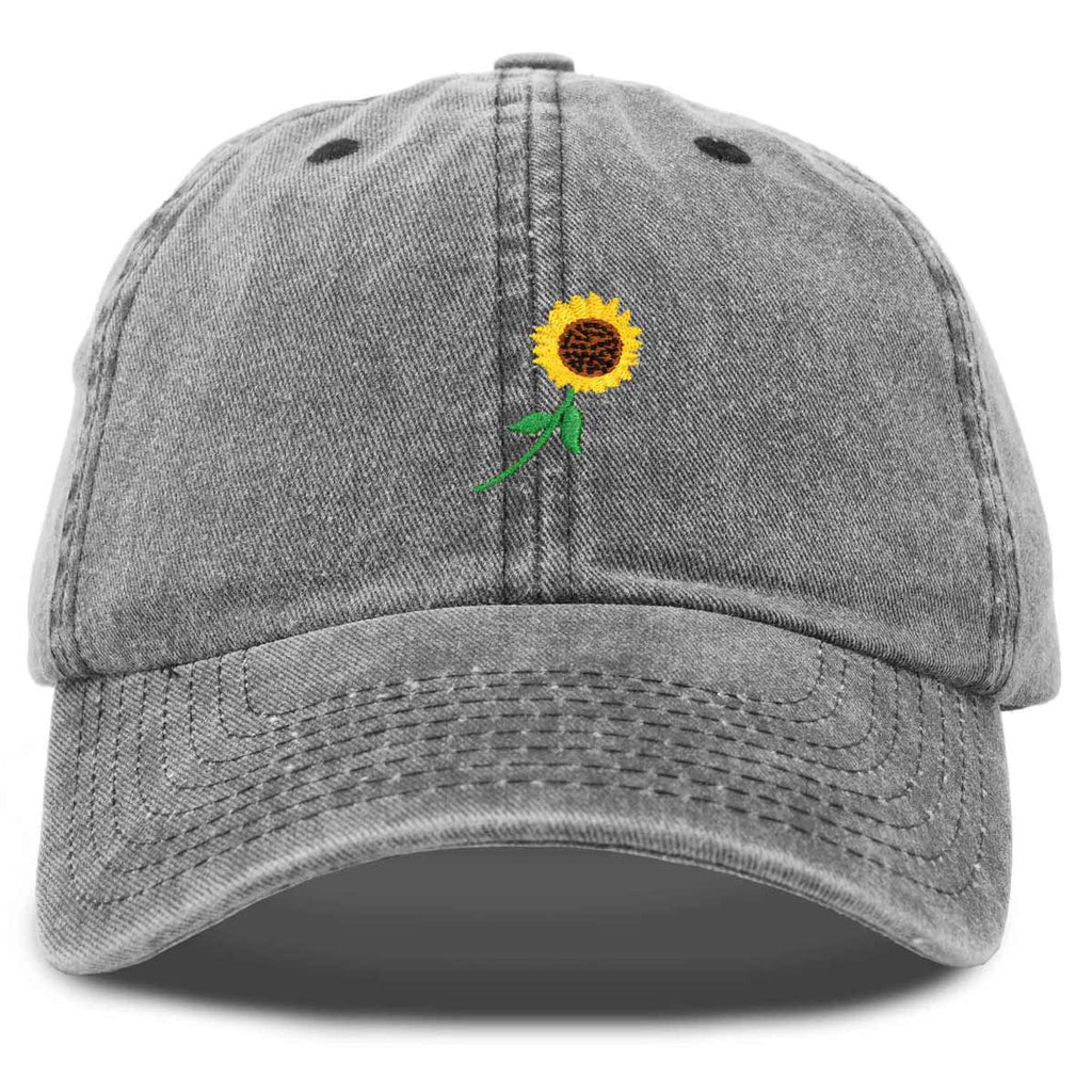 DALIX Sunflower Hat Womens Floral Baseball Cap Washed