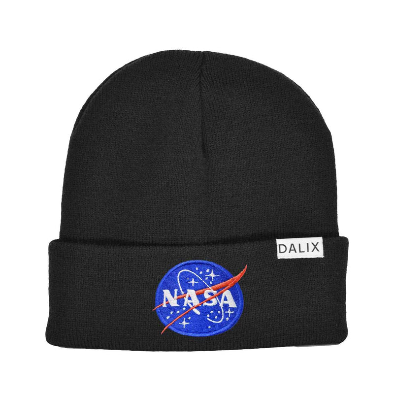 DALIX Retro Style NASA Beanie Cap Embroidered Hat Space Meatball Logo