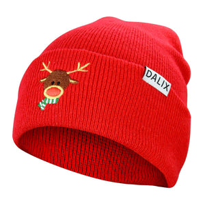 DALIX Rudolph Beanie Christmas Holiday Winter Stocking Hat