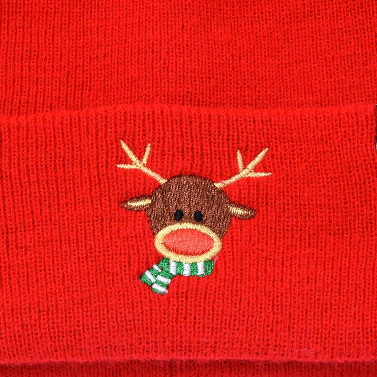 788d1d260 DALIX Rudolph Beanie Christmas Holiday Winter Stocking Hat