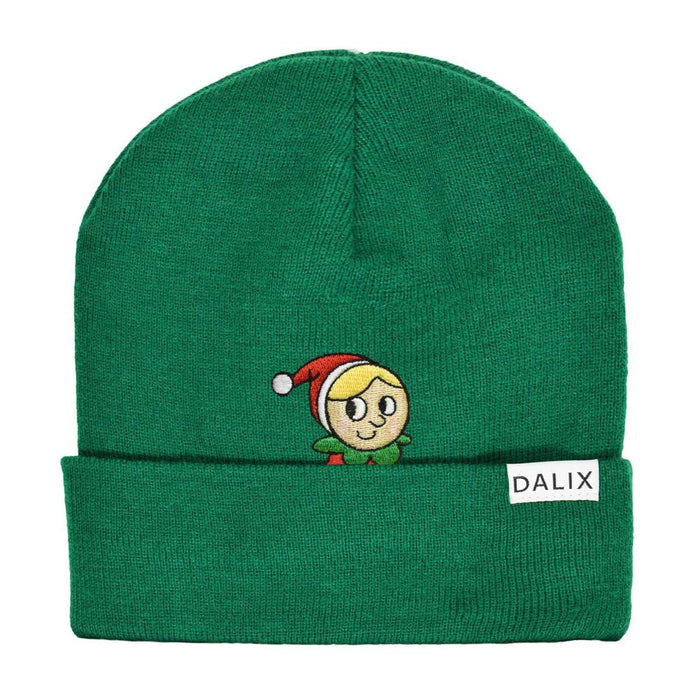 Christmas Shy Elf Beanie Warm Winter Cap Embroidered Hat