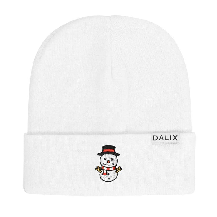 DALIX Christmas Cute Snowman Beanie Warm Winter Cap Embroidered Hat