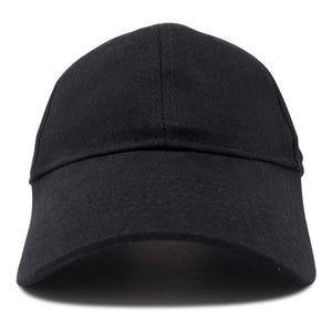 DALIX Unisex Fine Brushed Cotton Cap Adjustable Hat with 6 Panels - Structured