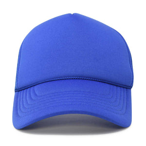 DALIX Trucker Cap Mesh Hat with Solid Colors and Adjustable Strap and Small Braid