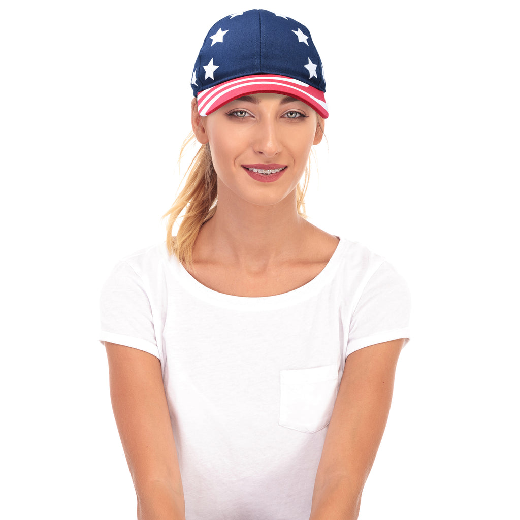 DALIX USA Stars and Stripes Cap American Patriotic Hat
