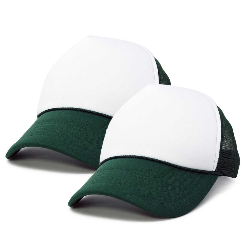 DALIX Two Tone Blank Trucker Hats Caps (2 for 1 Deal)