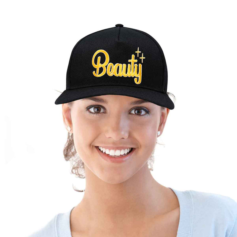 DALIX Beauty and Beast Hat Set Men Women Flat Bill Couples Cap