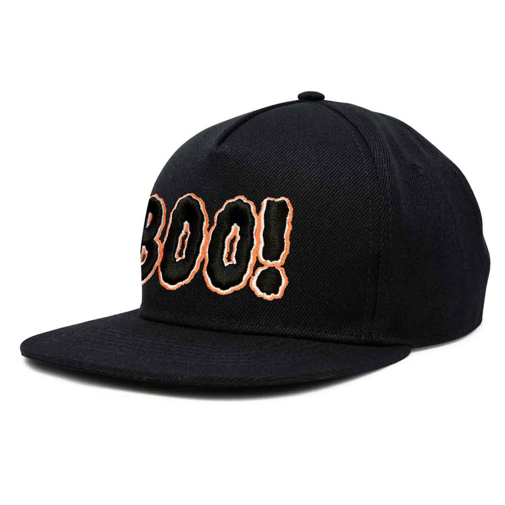 DALIX Boo! Halloween Hat Mens Womens Flat Bill Snapback Cap