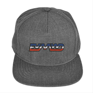 EVMWD Snapback Hat Flat Billed Wool Blend