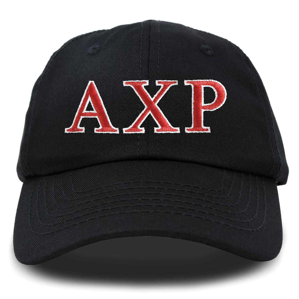 Alpha Chi Rho Fraternity Greek Letters Ball Cap Embroidered Hat