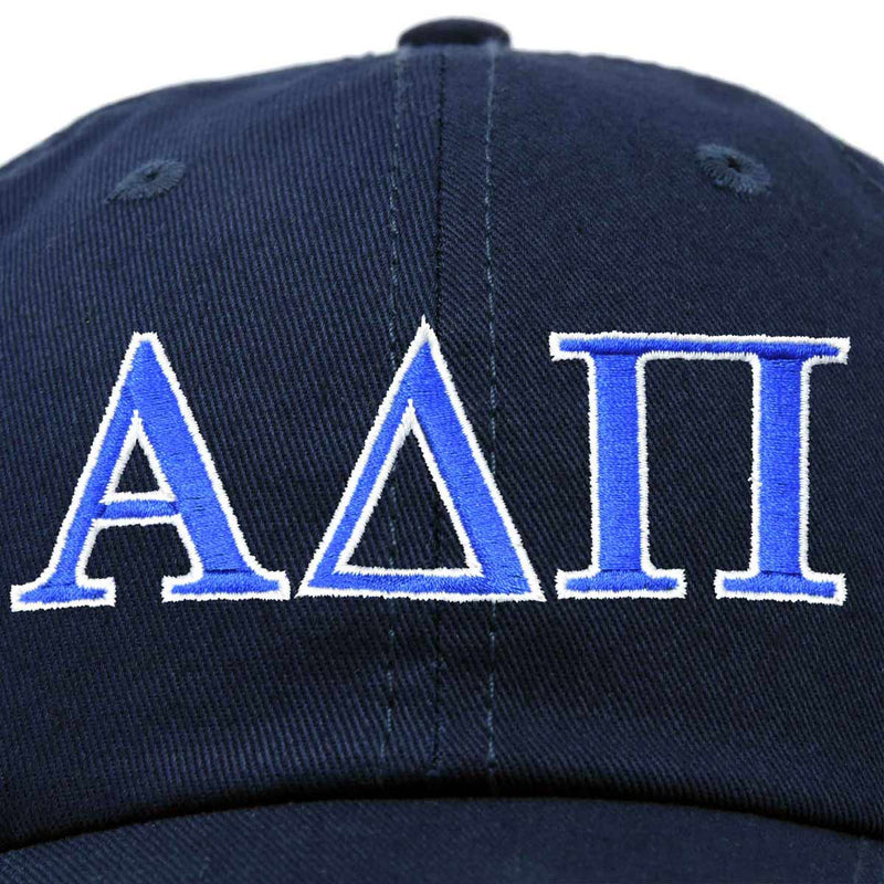 Alpha Delta Pi Sorority Hat Womens Greek Letters Embroidered Baseball Cap