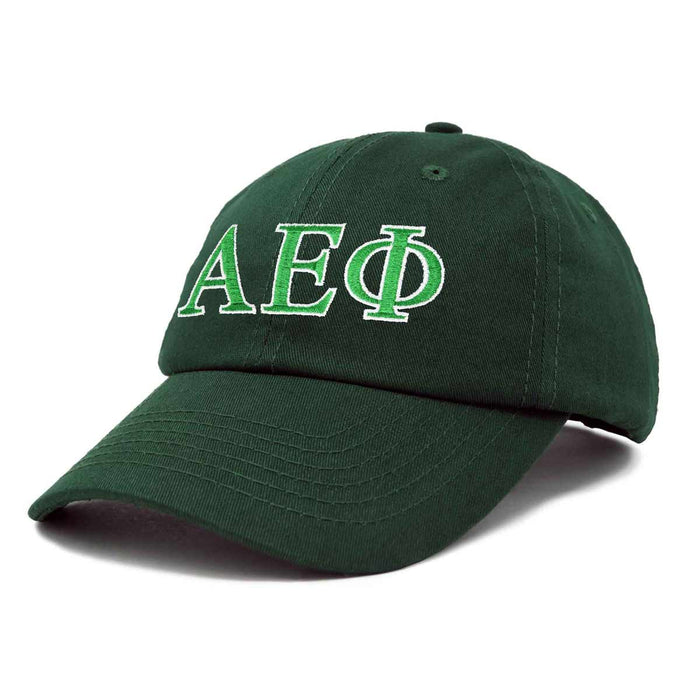 Alpha Epsilon Phi Sorority Hat Womens Greek Letters Embroidered Baseball Cap