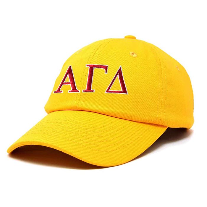 Alpha Gamma Delta Sorority Hat Womens Greek Letters Embroidered Baseball Cap
