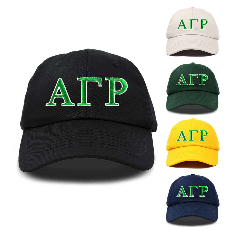 Alpha Gamma Rho Fraternity Greek Letters Ball Cap Embroidered Hat