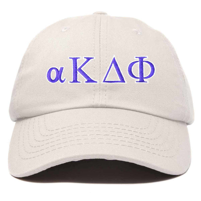 alpha Kappa Delta Phi Sorority Hat Womens Greek Letters Embroidered Baseball Cap