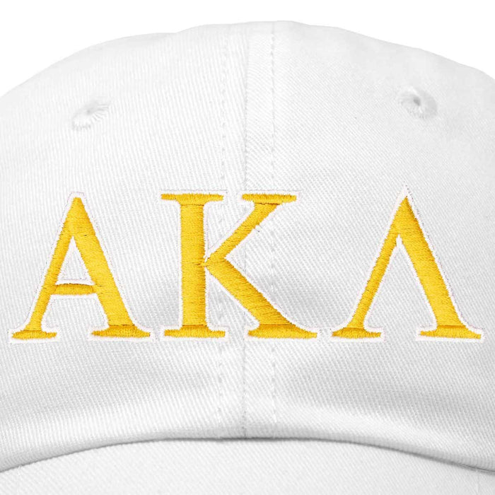 Alpha Kappa Lambda Fraternity Greek Letters Ball Cap Embroidered Hat