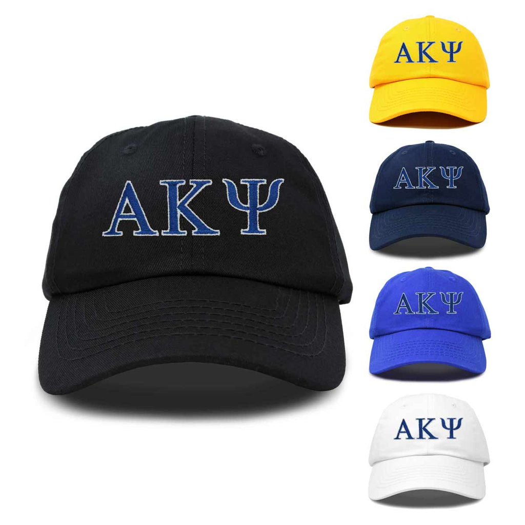 DALIX Alpha Kappa Psi Greek Letters Ball Cap Embroidered Hat