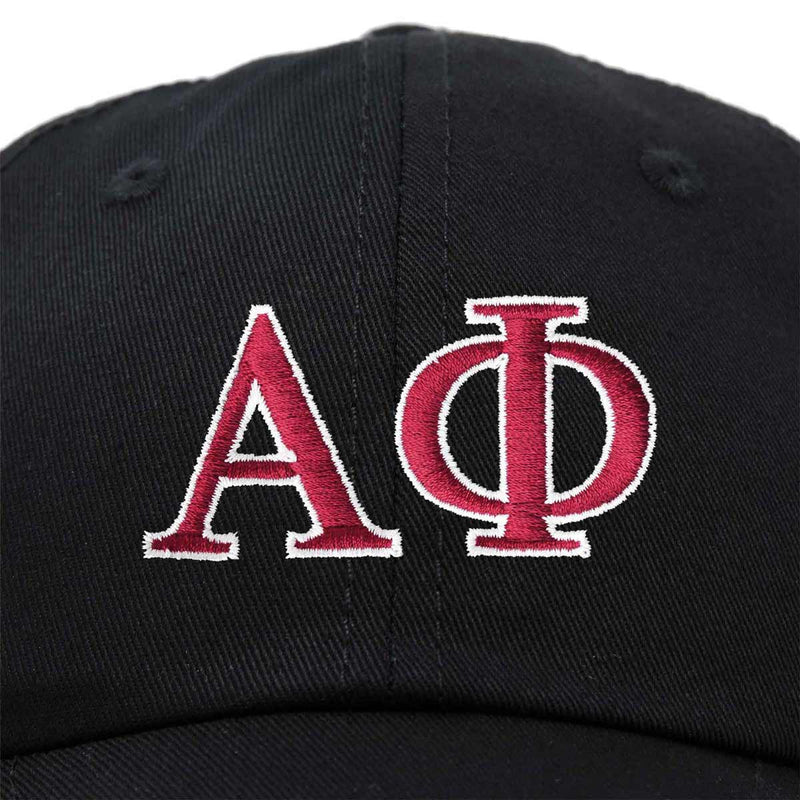 Alpha Phi Sorority Hat Womens Greek Letters Embroidered Baseball Cap