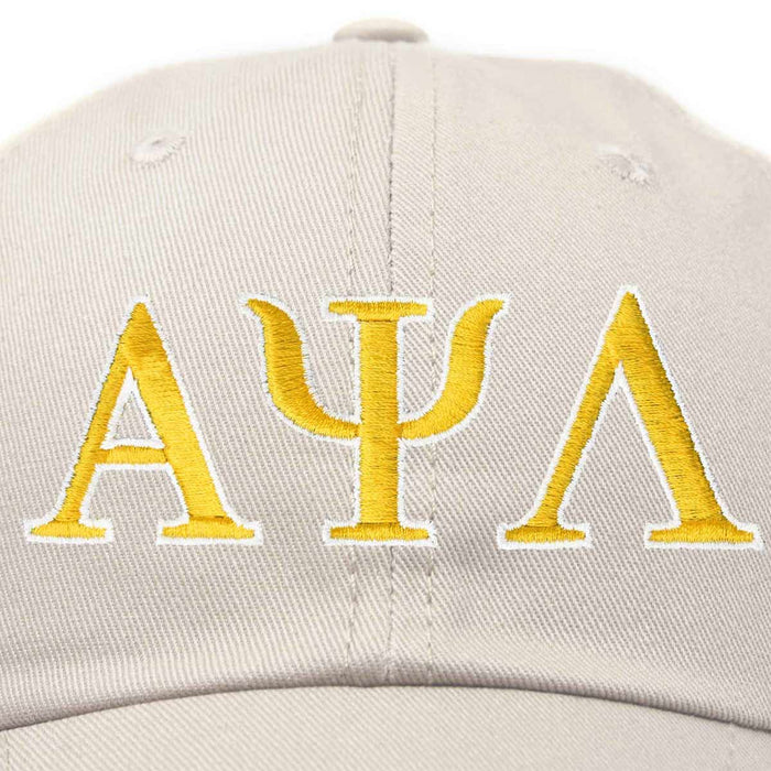 Alpha Psi Lambda Fraternity Greek Letters Ball Cap Embroidered Hat