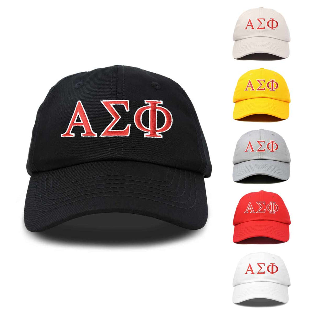 Alpha Sigma Phi Fraternity Greek Letters Ball Cap Embroidered Hat