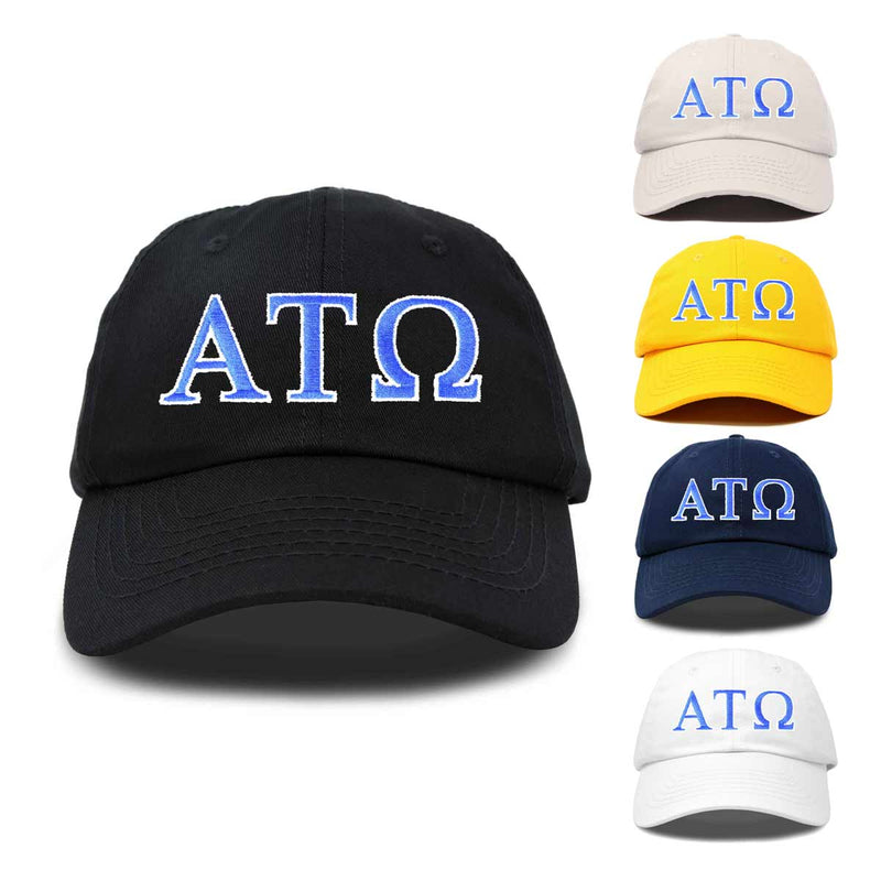 Alpha Tau Omega Fraternity Greek Letters Ball Cap Embroidered Hat