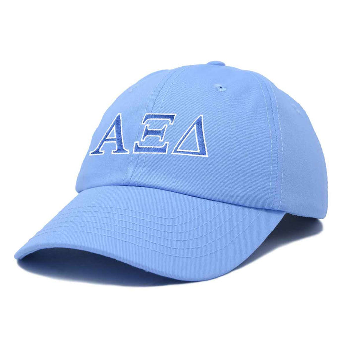 Alpha Xi Delta Sorority Hat Womens Greek Letters Embroidered Baseball Cap