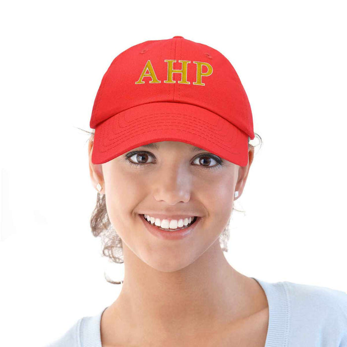 DALIX Alpha Eta Rho Greek Letters Ball Cap Embroidered Hat