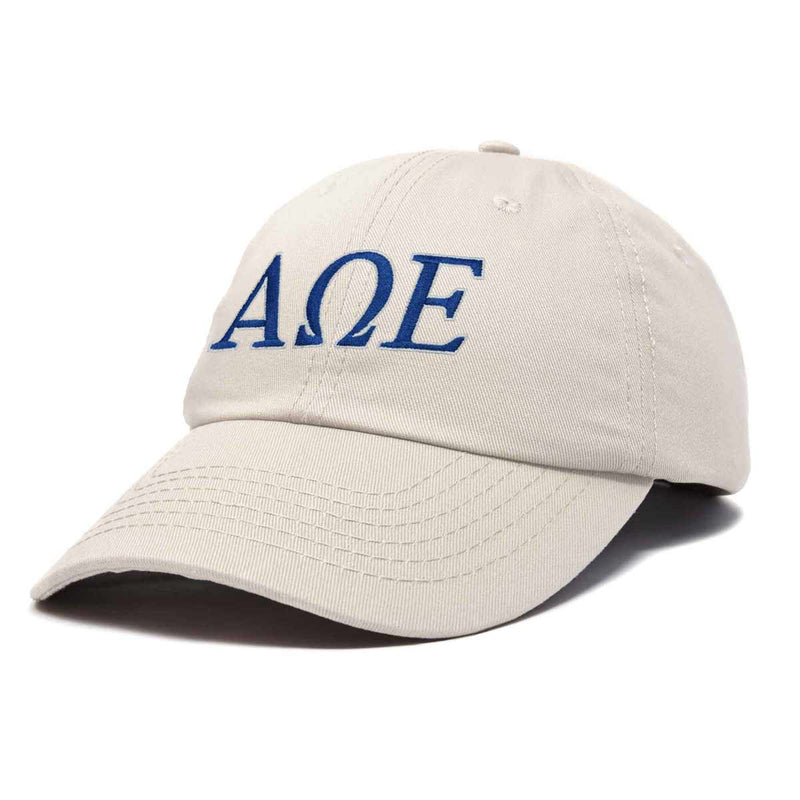 DALIX Alpha Omega Epsilon Greek Letters Hat Womens Embroidered Baseball Cap