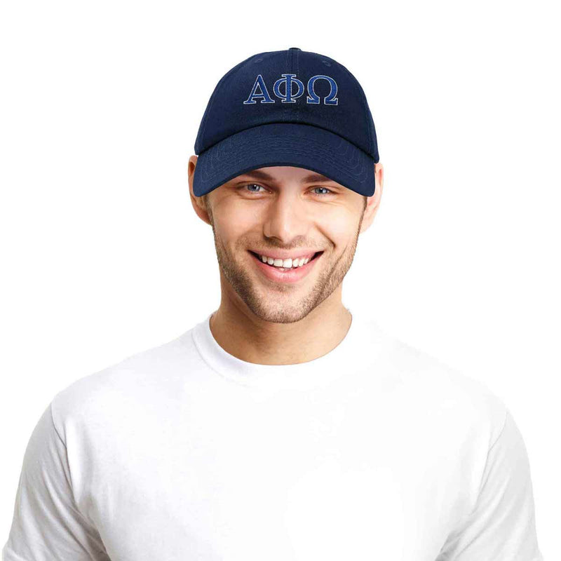 DALIX Alpha Phi Omega Greek Letters Ball Cap Embroidered Hat