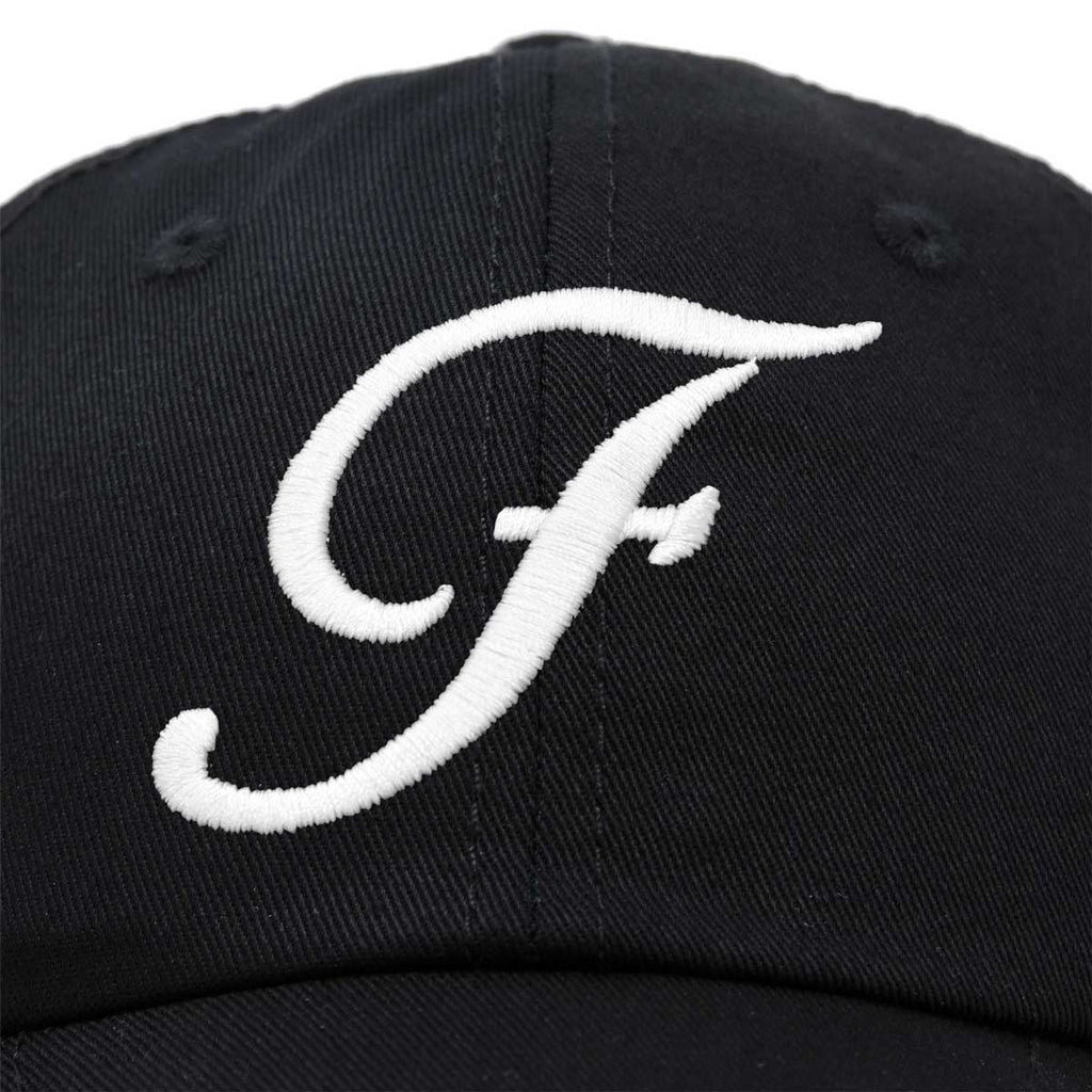DALIX Initial Hat Letter F Womens Baseball Cap Monogram Cursive Embroider