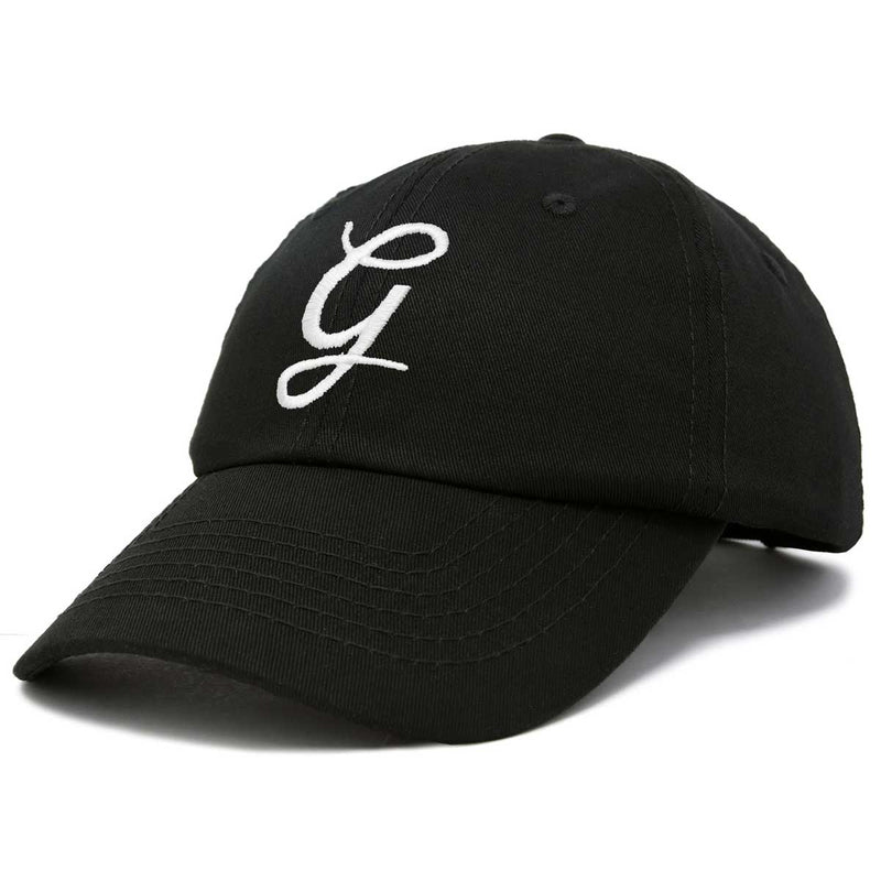 DALIX Initial Hat Letter G Womens Baseball Cap Monogram Cursive Embroider