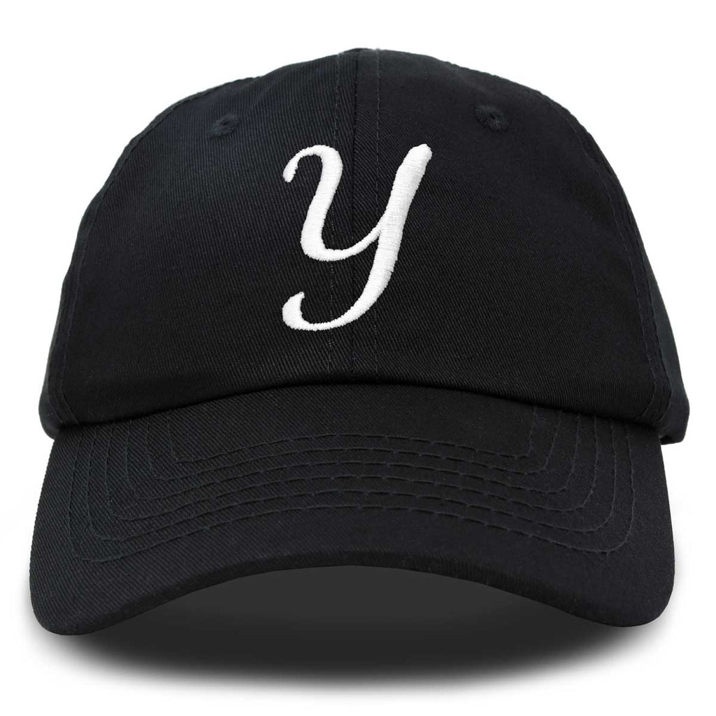 DALIX Initial Hat Letter Y Womens Baseball Cap Monogram Cursive Embroider