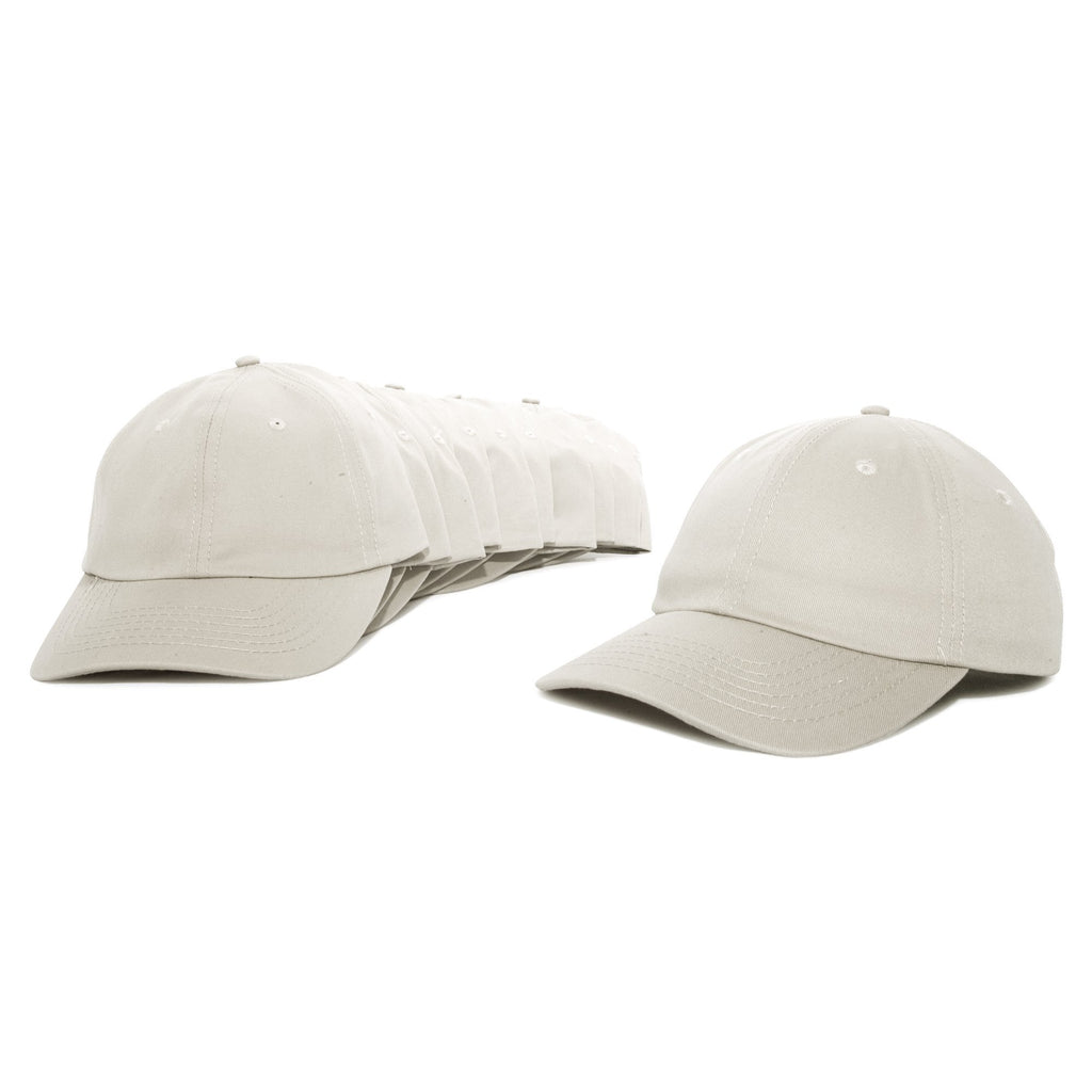 DALIX Baseball Cap Mens Trucker Hat Dad Hats Caps for Women 12 Pack Caps & Hats DALIX Beige