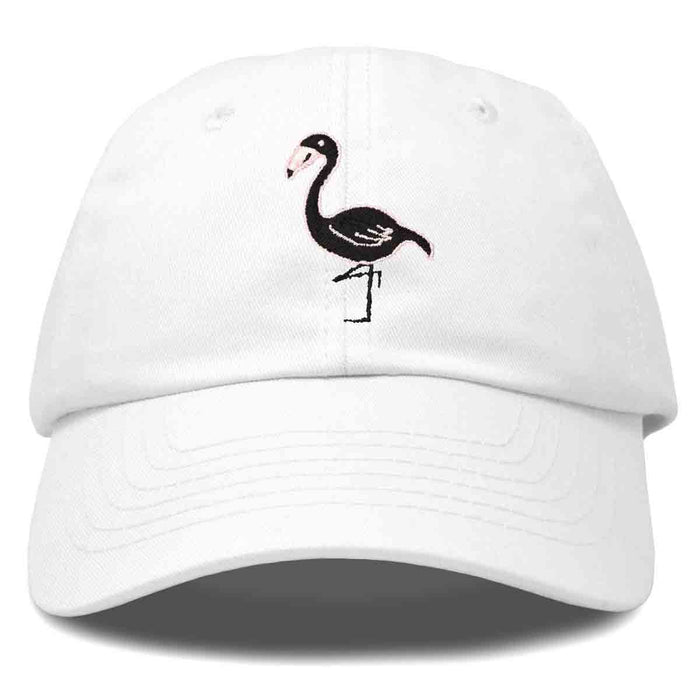 DALIX Black Flamingo Womens Dad Hat Baseball Cap Embroidered
